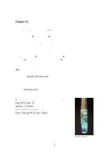 Chapter 12. 전기화학