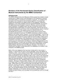 Revision of the Hornbostel-Sachs Classification of Musical ... - MIMO