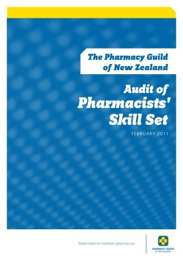 Pharmacists' Skill Set - Pharmacy Guild of New Zealand