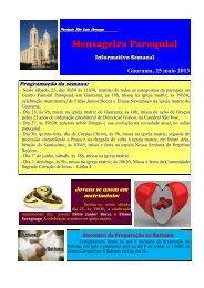 (07) Mensageiro Informativo 25 maio 2013 - Diocese de Erexim