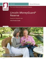 Lincoln MoneyGuard® Reserve - Shaw American