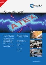 Pásy s certifikátem ATEX
