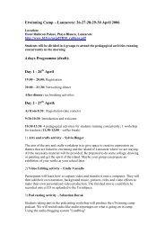 Etwinning Camp – Lanzarote: 26-27-28-29-30 April 2006