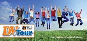 Flyer zu DVonTour - Kolpingjugend Diözesanverband Augsburg