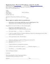 Registration Form – West Coast Silent Retreat - Kriya Yoga Institute