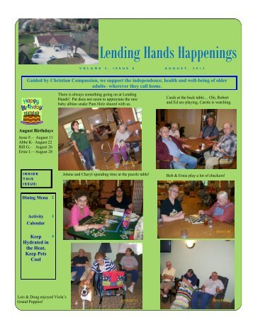 Lending Hands Happenings - WesleyLife