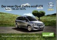 Der neue Opel Zaf - Erdgas Obersee AG