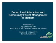 Forest Land Allocation and Community Forest Management in ...