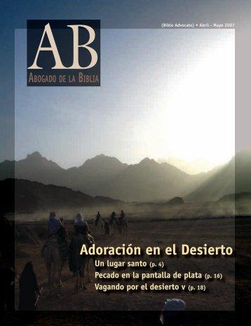 Adoración en el Desierto - The Bible Advocate Online