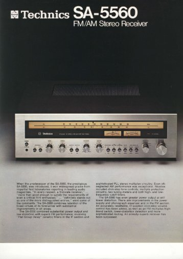 When the predecessor of the 34-5560, the prestigious SA-5550, was ...