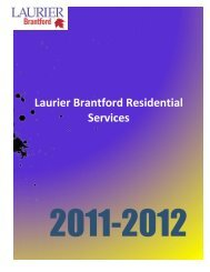 Laurier Brantford Residential Services - Wilfrid Laurier University