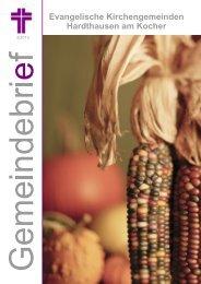 Herbstbrief 2013 - Evangelische Kirchengemeinde Gochsen