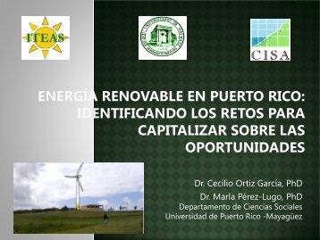 energía renovable en puerto rico - UPRM