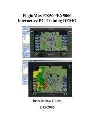 FlightMax EX500/EX5000 Interactive PC Training DEMO - Avidyne