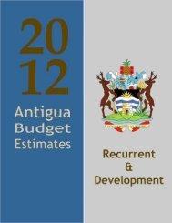 Antigua and Barbuda Estimates Of Revenue and Expenditure 2012