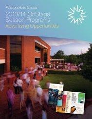 Advertising Sales and Specs - Walton Arts Center