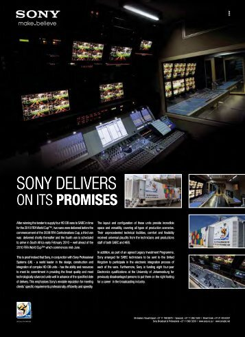 SONY DELIVERS SONY DELIVERS - Screen Africa