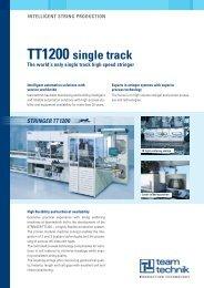 tt1200 single track the world's only single track high speed stringer
