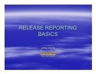 RELEASE REPORTING BASICS - Minnesota CLE