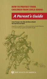 A Parent's Guide - Boy Scouts of America