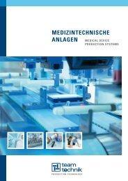 MedizintecHniscHe anlaGen - teamtechnik Maschinen und Anlagen ...
