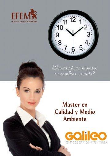 Master en Calidad y Medio Ambiente - Galileo