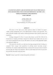 jurnal analisis manajemen laba dan kinerja keuangan ... - Undip