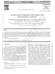 Feature selection algorithms using Chilean wine chromatograms as ...