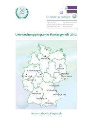 www.staber-kollegen.de Untersuchungsprogramm Humangenetik ...