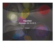 Vayeitzei Genesis 28:10-32:3 - The Jewish Home