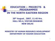 Presentation by Dept. of Higher Education - Ministry of Development ...