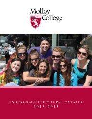 Undergraduate course catalog (2013-2015) - Molloy College
