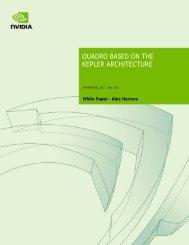 White Paper: Quadro Based on the Kepler Architecture | NVIDIA - PNY