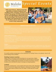 Special Events - Malolo Island Resort