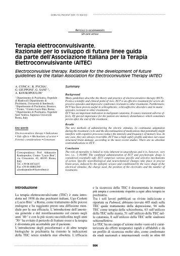 Associazione italiana per la terapia elettroconvulsivante