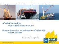 AC-käytöt palveluna: VVCC - VEM motors Finland Oy