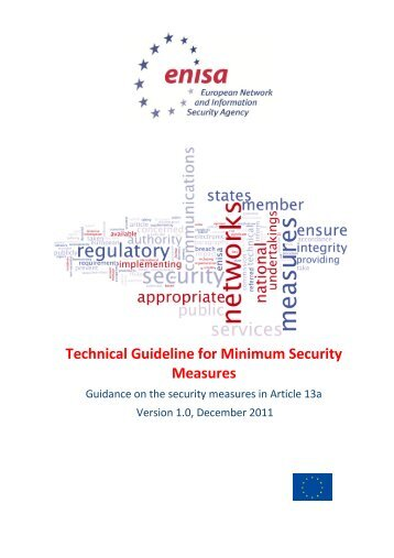Technical Guideline for Minimum Security Measures - enisa - Europa