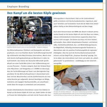 Employer Branding - Die Maschinenbau Redaktion