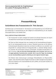 Presseerklärung - Interessengemeinschaft der Kapitalanleger im ...