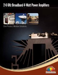 2-6 GHz Broadband 4-Watt Power Amplifiers - Spectrum Microwave ...