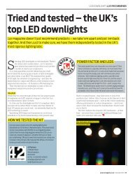 Tried and tested – the UK's top LED downlights Lux - PhotonStar LED