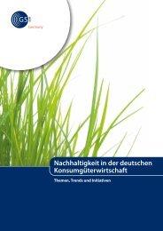 Nachhaltigkeit in der deutschen Konsumgüterwirtschaft - CSCP