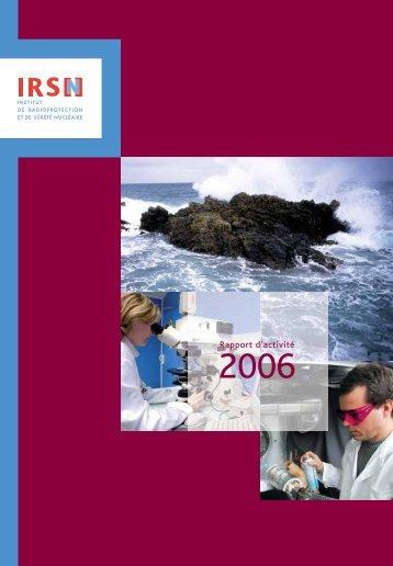 Télécharger le rapport d'activité IRSN 2006.