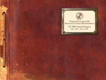2009 Annual Report PDF - Boone and Crockett Club