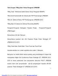 Teks Ucapan YBhg Dato' Ketua Pengarah JPBDSM YBhg Dato ...