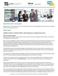 Newsletter Vol 39 Spotlight: Return on Investment ... - Softengine Inc.