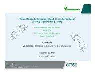 Teknologiudviklingsprojekt til undersøgelse af PCB-forurening i jord