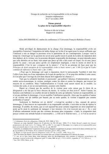 Groupe de recherche sur la responsabilité civile en Europe - Grerca