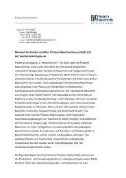 Pressemitteilung als PDF - PFUDERER Maschinenbau GmbH