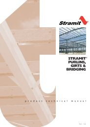 Stramit Purlin, Girts & Bridging Product Technical Manual - BJH